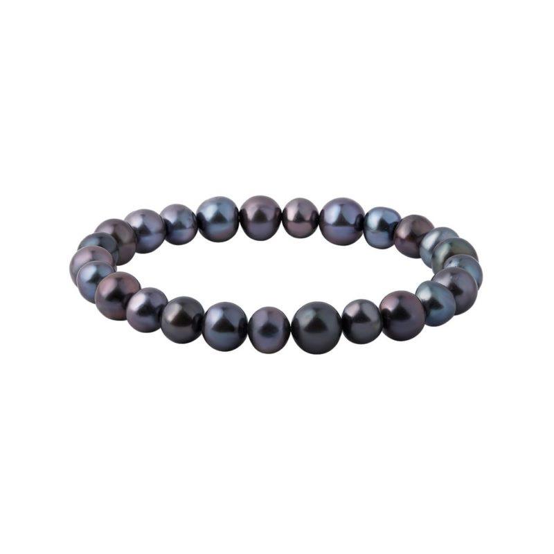 Barevný perlový náramek na gumičce KLENOTA