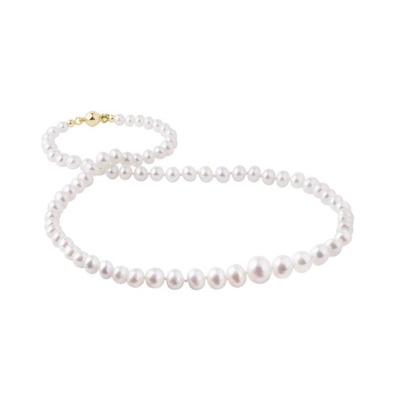Kónický perlový náhrdelník se zlatým zapínáním KLENOTA
