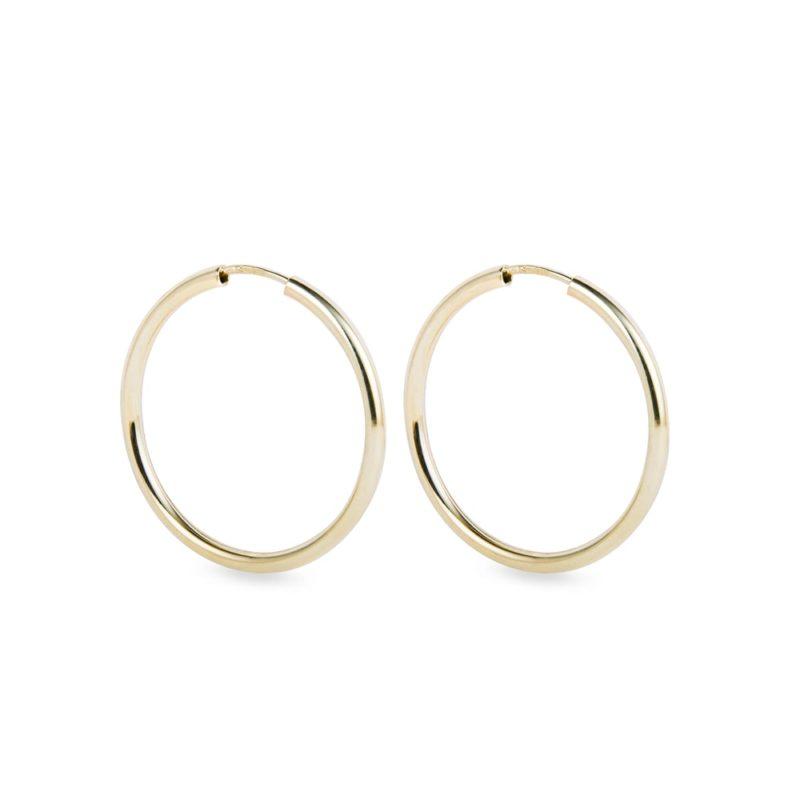 Klasické kruhové náušnice ze žlutého zlata KLENOTA