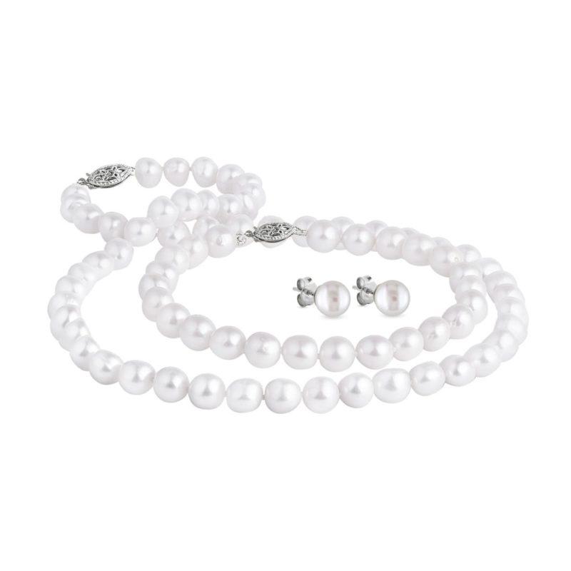 Luxusní perlová souprava ve zlatě KLENOTA