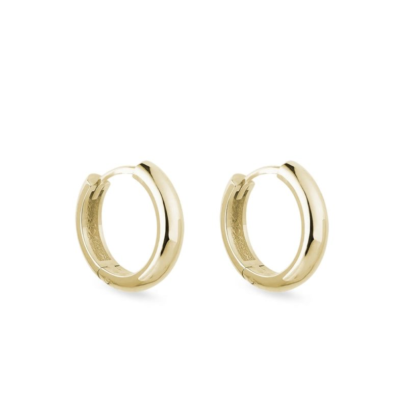 Minimalistické zlaté náušnice kruhy KLENOTA
