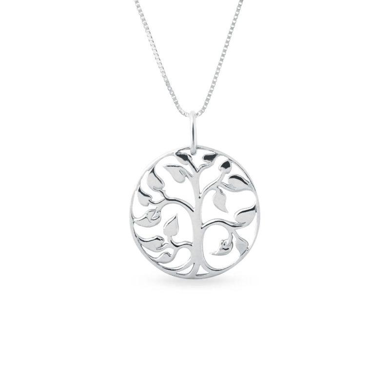 Náhrdelník Strom života z bílého zlata KLENOTA