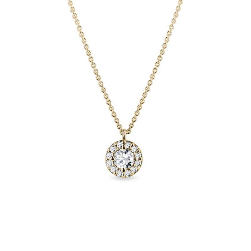 Originální náhrdelník s diamanty ve zlatě KLENOTA