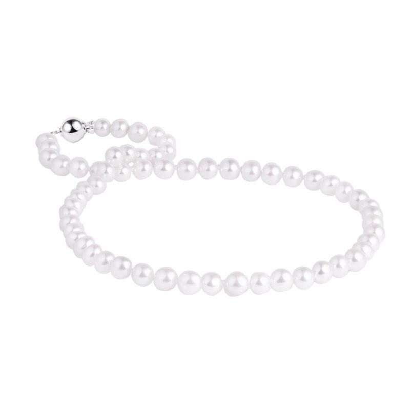 Perlový stříbrný náhrdelník KLENOTA
