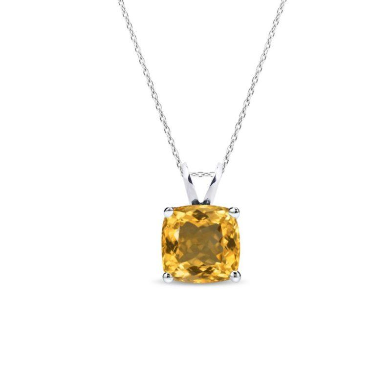 Stříbrný náhrdelník s citrínem KLENOTA