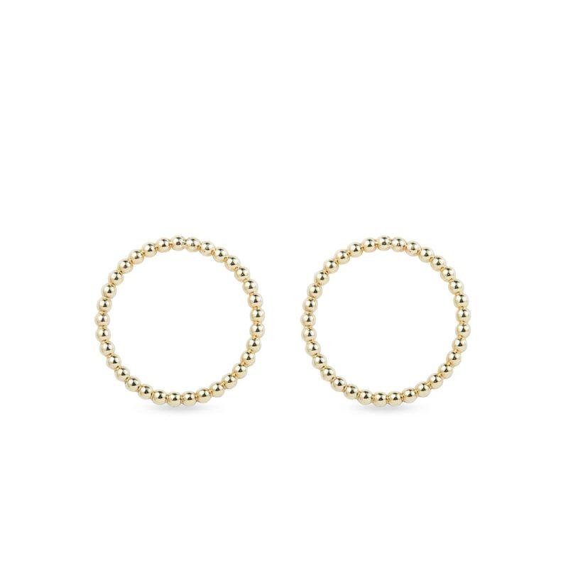 Zlaté kruhové náušnice KLENOTA