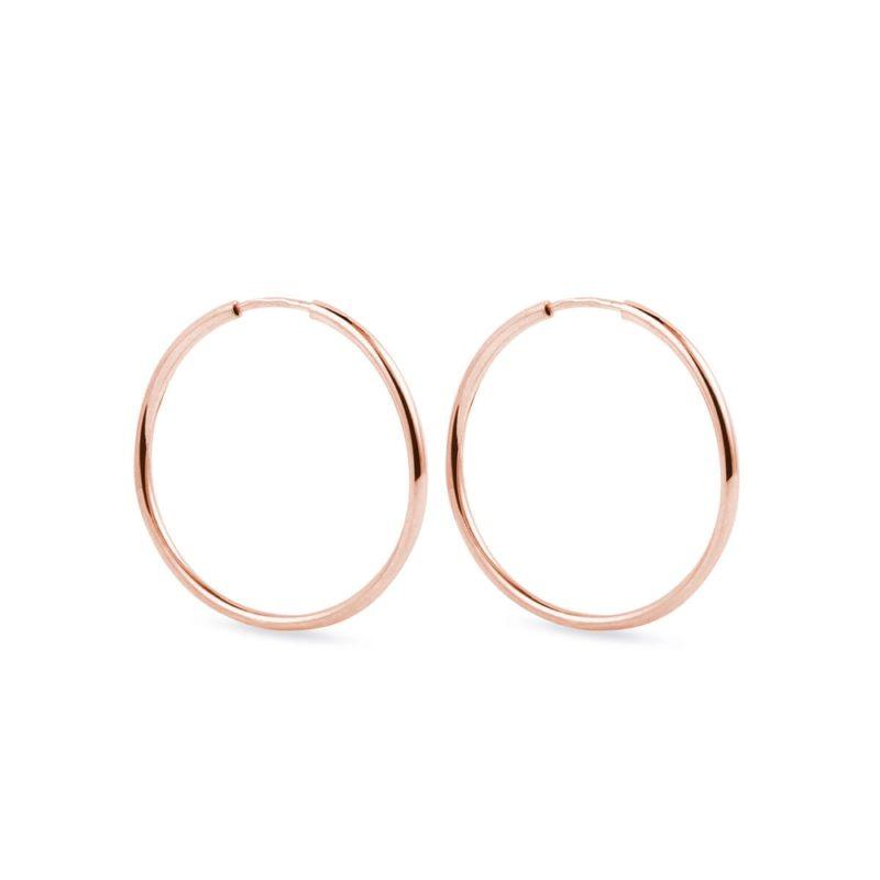 Zlaté kruhy z růžového zlata KLENOTA