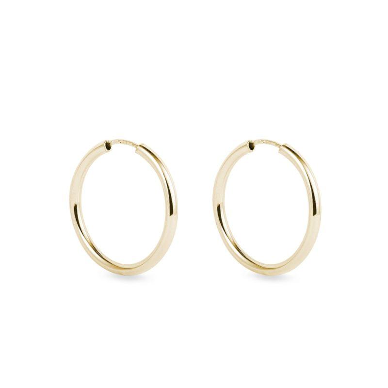 Zlaté náušnice kruhy o průměru 2 cm KLENOTA