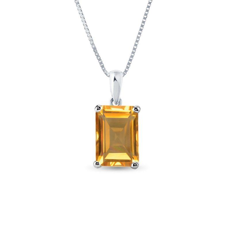 Zlatý náhrdelník s citrínem KLENOTA