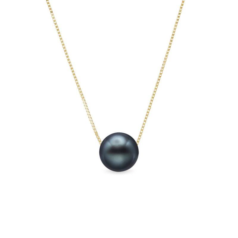 Zlatý náhrdelník s tahitskou perlou KLENOTA