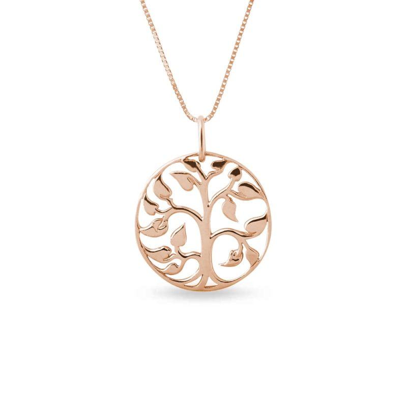Zlatý náhrdelník ve tvaru stromu KLENOTA